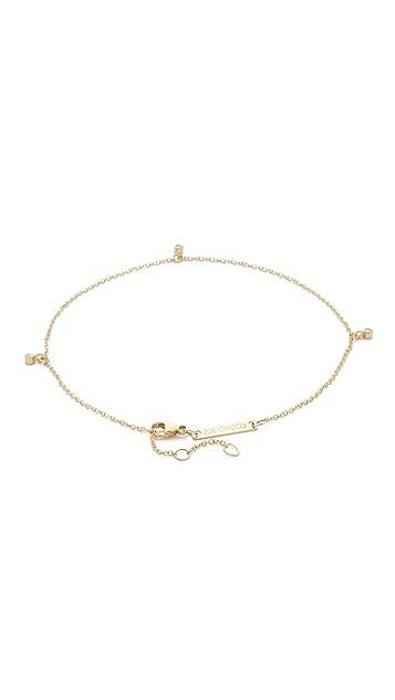 Zoe Chicco 14k Gold Dangling Diamond Anklet