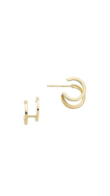 Zoe Chicco 14k Gold Double Huggie Hoop Earrings