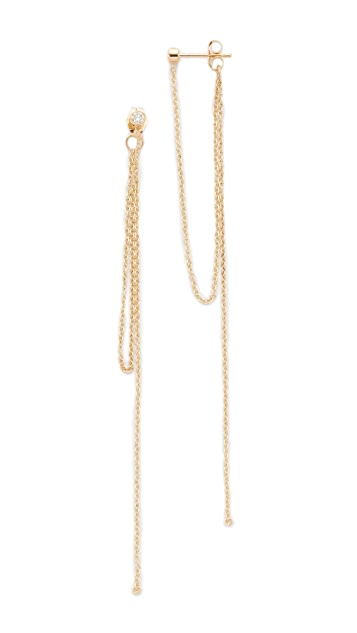 Zoe Chicco 14k Gold Connecting Chain Fringe Earrings