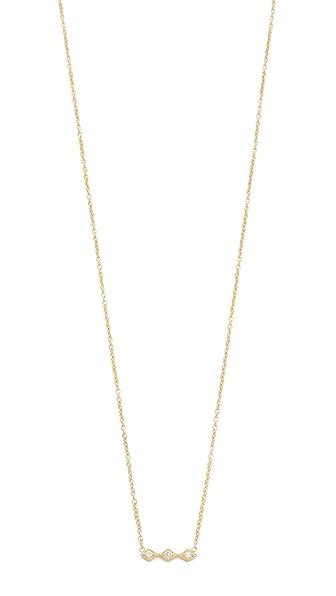 Zoe Chicco Tiny Diamond Bar Necklace