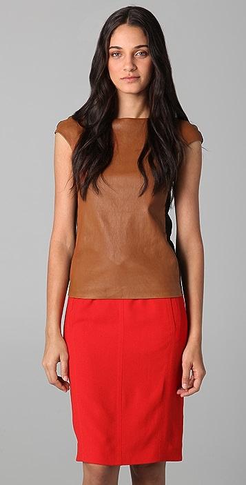 Zero + Maria Cornejo Leather Neka Top