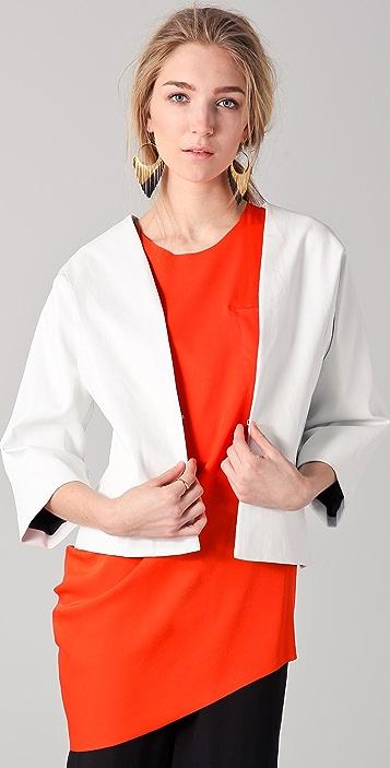 Zero + Maria Cornejo Leather Oki Jacket