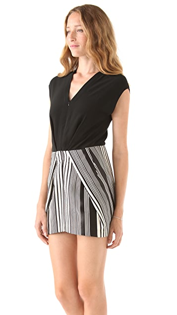 Zero + Maria Cornejo Tate Stripe Mini Dress