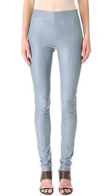 Zero + Maria Cornejo Leather One Seam Pants