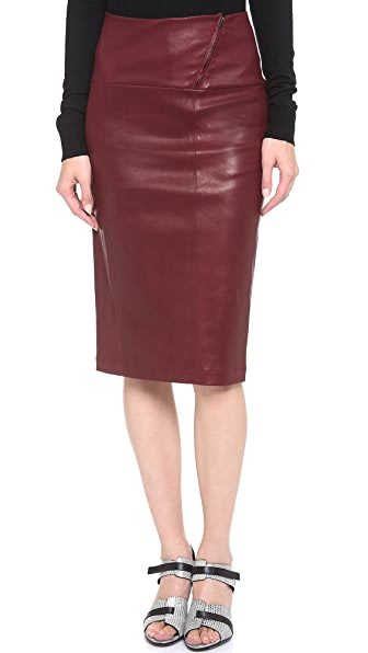 Zero + Maria Cornejo Leather Nobi Skirt