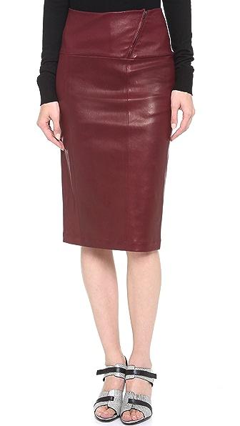 Zero + Maria Cornejo Leather Nobi Skirt
