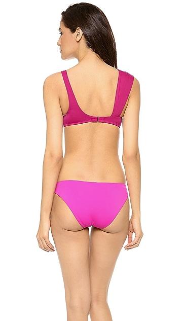 Zero + Maria Cornejo Pia Colorblock Swim Top
