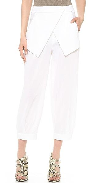 Zero + Maria Cornejo Cropped Cargo Pants