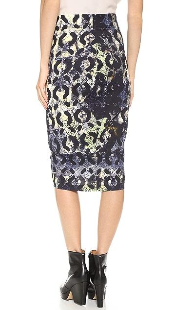 Zero + Maria Cornejo Moss Print Isis Skirt