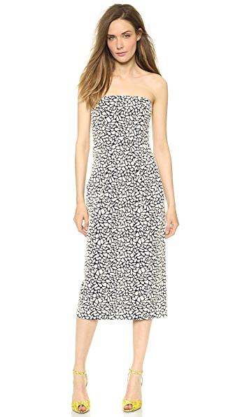 Zero + Maria Cornejo Pebble Jacquard Strapless Biri Dress