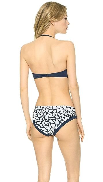 Zero + Maria Cornejo Pebble Print Sim Bikini Top