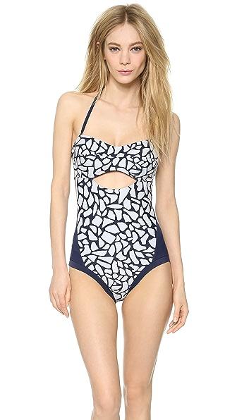 Zero + Maria Cornejo Pebble Print Oona Swimsuit