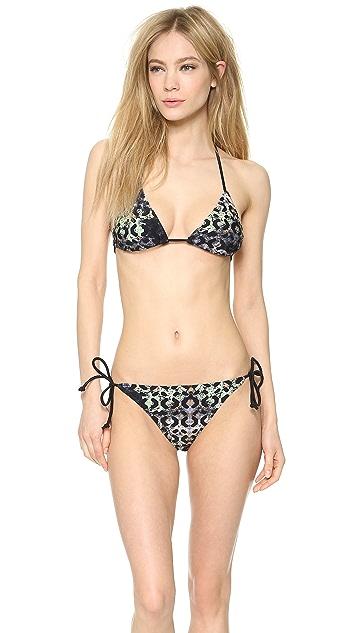 Zero + Maria Cornejo Moss Print Alla Bikini Top