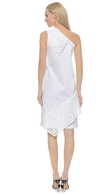 Zero + Maria Cornejo Block Lace Spiral Dress