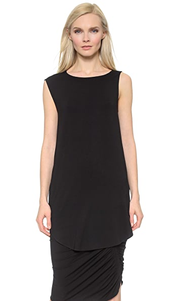 Zero + Maria Cornejo Side Drape Mini Tunic - Black
