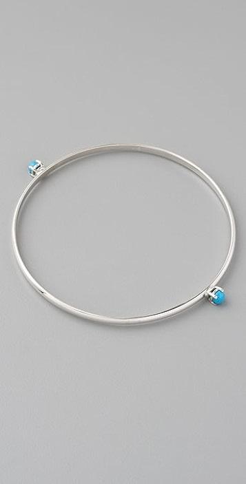 Jennifer Zeuner Jewelry Cabochon Stud Bangle