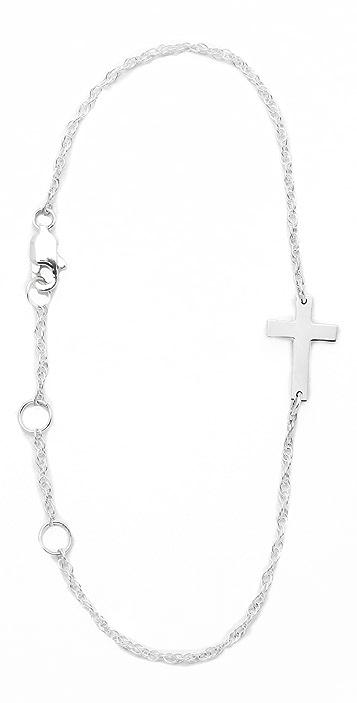 Jennifer Zeuner Jewelry Mini Integrated Cross Bracelet