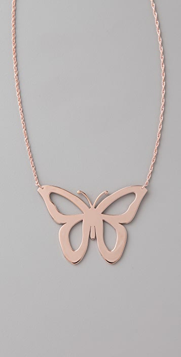 Jennifer Zeuner Jewelry Cutout Butterfly Necklace