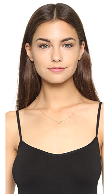 Jennifer Zeuner Jewelry Mini Wishbone Necklace