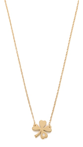 Jennifer Zeuner Jewelry Clover Necklace with Diamond
