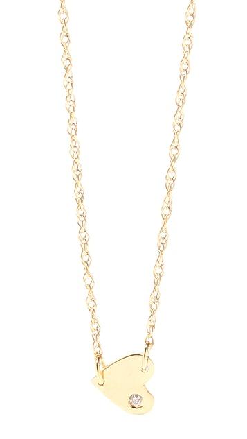 Jennifer Zeuner Jewelry Heart Necklace with Diamond