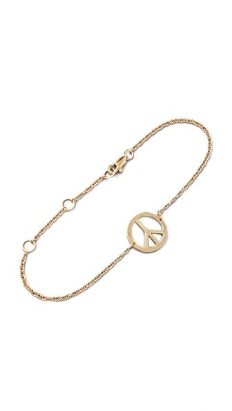 Jennifer Zeuner Jewelry Mini Peace Sign Bracelet