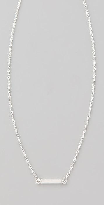 Jennifer Zeuner Jewelry Triple Mini Integrated Bar Necklace