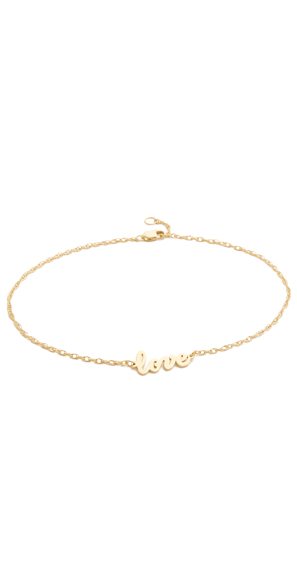 Love Anklet Jennifer Zeuner Jewelry