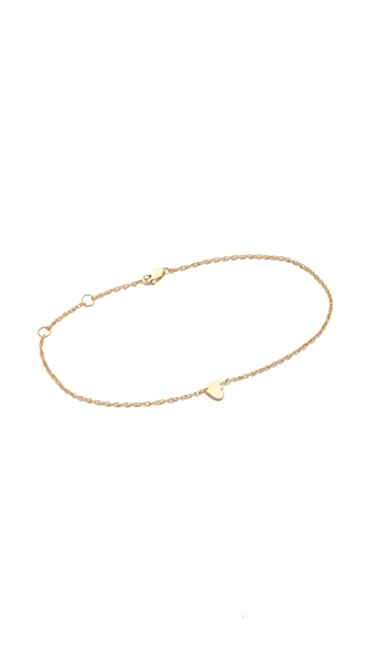 Jennifer Zeuner Jewelry Heart Anklet