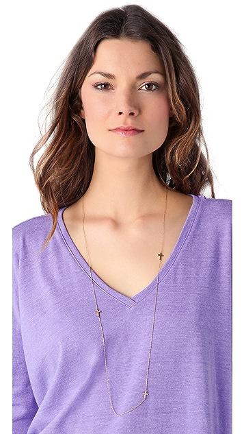 Jennifer Zeuner Jewelry Baby Cross Necklace