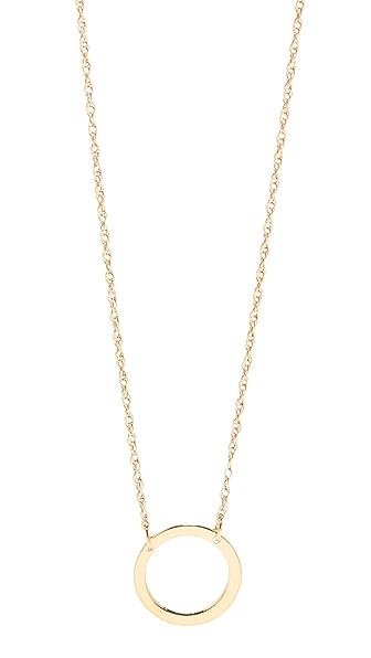 Jennifer Zeuner Jewelry Small Open Circle Necklace