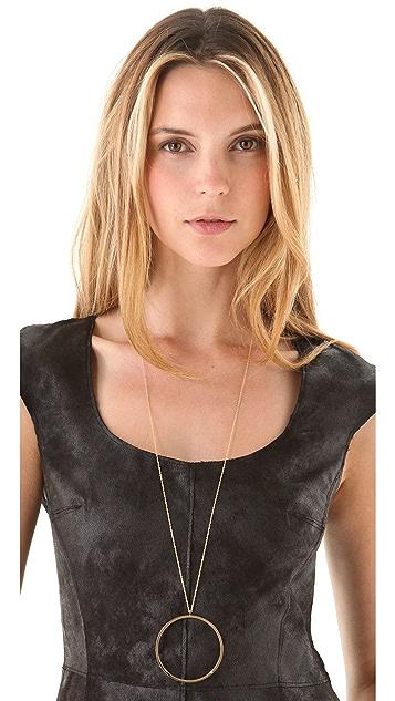 Jennifer Zeuner Jewelry Circle Diamond Necklace