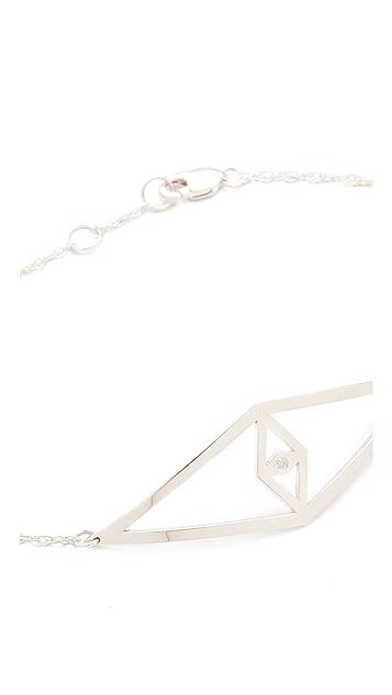 Jennifer Zeuner Jewelry Diamond Eye Charm Bracelet