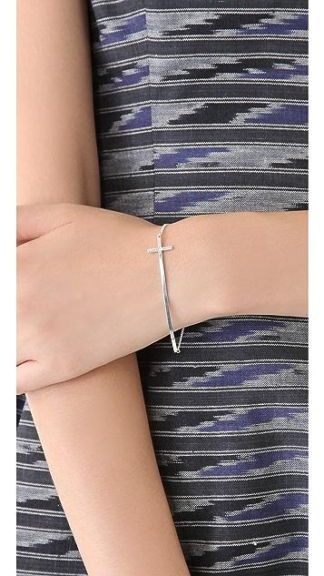 Jennifer Zeuner Jewelry Long Cross Bracelet