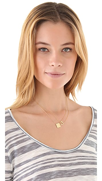 Jennifer Zeuner Jewelry Square Diamond Hamsa Necklace
