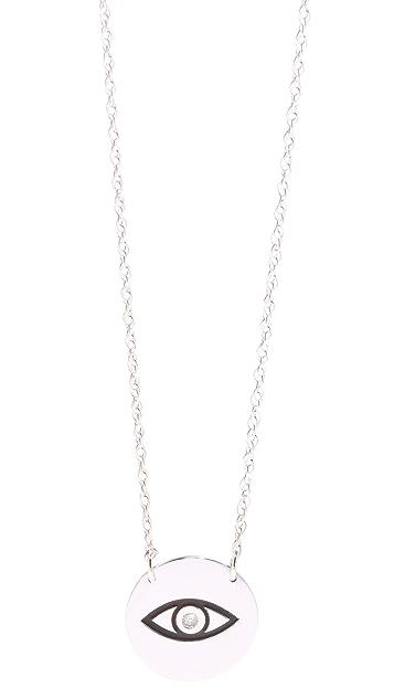 Jennifer Zeuner Jewelry Diamond Eye Necklace