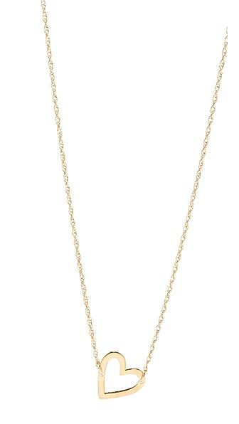 Jennifer Zeuner Jewelry Open Heart Necklace