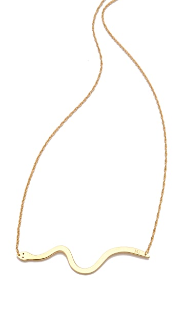 Jennifer Zeuner Jewelry Skinny Diamond Snake Necklace