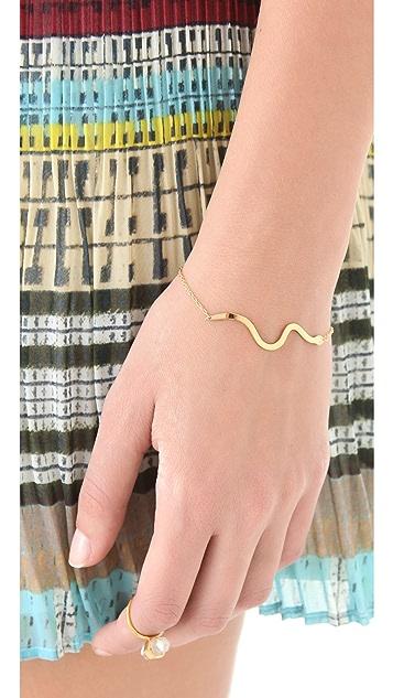 Jennifer Zeuner Jewelry Long Diamond Snake Bracelet