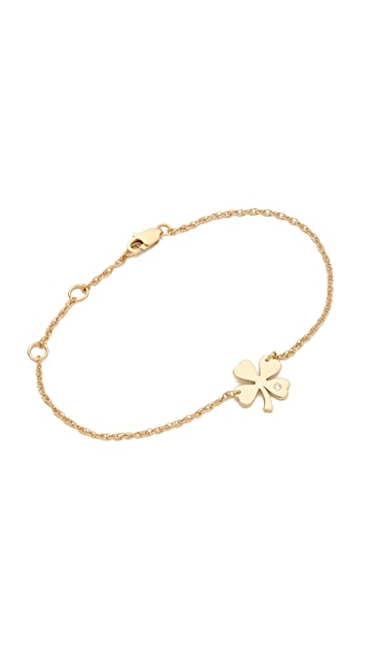 Jennifer Zeuner Jewelry Mini Clover Bracelet - Gold