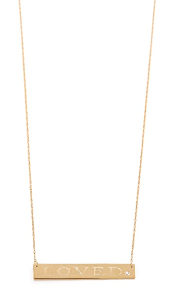 Jennifer Zeuner Jewelry Loved Necklace with Diamond