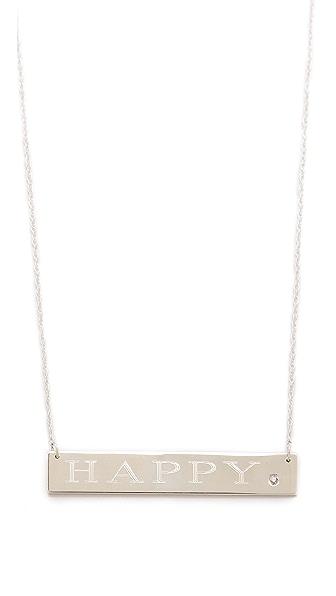 Jennifer Zeuner Jewelry Happy Necklace with Diamond