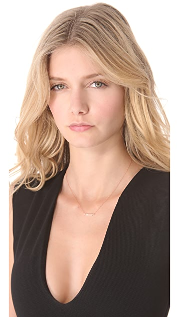 Jennifer Zeuner Jewelry Chelsea Mini Bar Necklace with Diamond