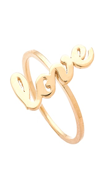 Jennifer Zeuner Jewelry Cursive Love Ring