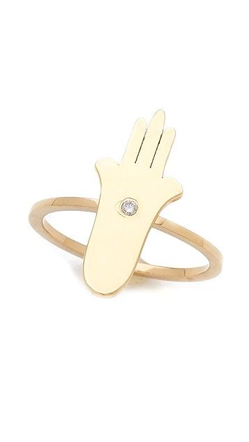 Jennifer Zeuner Jewelry Hamsa Diamond Ring