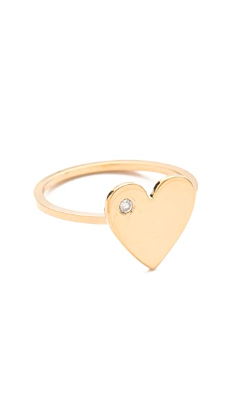 Jennifer Zeuner Jewelry Heart Diamond Ring