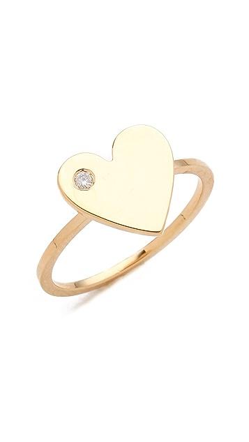 Jennifer Zeuner Jewelry Heart Diamond Ring
