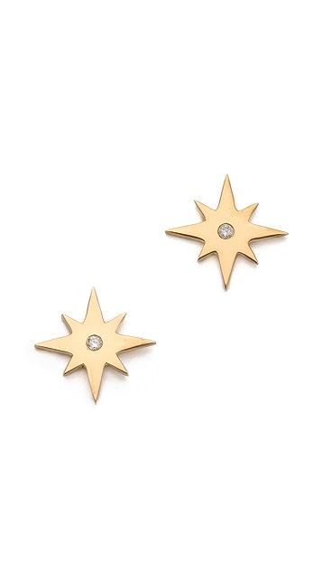 Jennifer Zeuner Jewelry Starburst Diamond Earrings