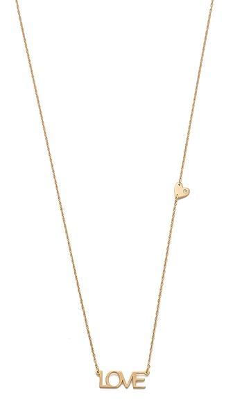 Jennifer Zeuner Jewelry Block Love Diamond Necklace