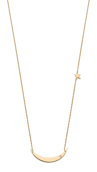 Jennifer Zeuner Jewelry Mood Diamond & Star Necklace